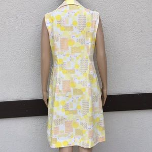 Its Better X Dresses - Vintage dress double knit polyester mod yellow